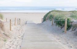 Вход к пляжу Стоковые Изображения RF