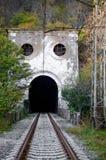 Вход к старому железнодорожному тоннелю Стоковые Изображения RF