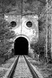 Вход к старому железнодорожному тоннелю Стоковое Изображение