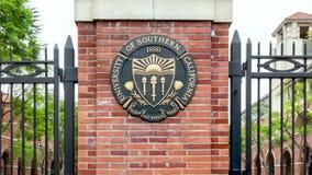 Вход к Университету Южной Калифорнии сток-видео