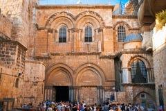 Вход к церков святого Sepulchre в Иерусалиме Стоковые Фото