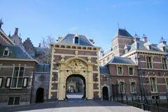 Вход к Binnenhof, Гаага, Нидерланды Стоковое Изображение