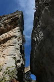 Вход к Sant Miquel del Fai в Bigas Каталонии Барселоне Испании Стоковое фото RF