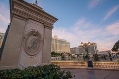 Вход Лас-Вегас гостиницы Bellagio Стоковое Фото