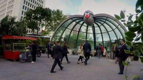 Вход метро в Стамбул видеоматериал