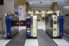 Вход метро токио стоковое фото rf