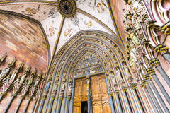 Вход монастырской церкви Фрайбурга Стоковые Изображения RF