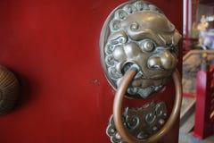 Входная дверь китайского виска Стоковое Фото