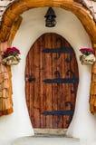 Входная дверь дома удара стоковое фото