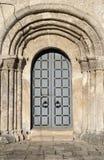 Входная дверь собора St. George (1230†«1234) в Yuryev-Polsky, зоне Владимира, России Стоковое фото RF