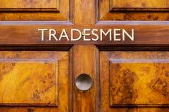 Входная дверь Tradesmens Стоковые Фотографии RF