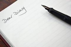 Вход дневника Стоковое Изображение