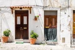 2 входной двери в Лиссабоне Стоковые Изображения