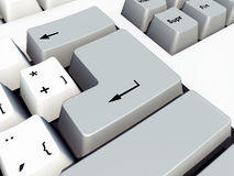 Входной ключ на клавиатуре компьютера Стоковые Фото