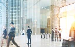 Вход офиса в Нью-Йорк Стоковое Изображение RF
