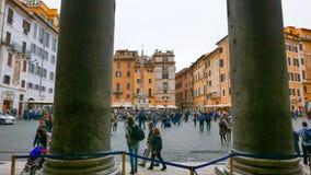 Вход пантеона в Риме стоковая фотография rf
