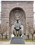 вход падает tesla статуи nikola niagara ny к Стоковые Фото