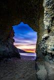 Вход пещеры моря Laguna стоковое изображение rf
