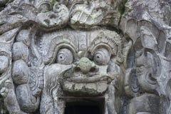 Вход пещеры Goa Gajah, Ubud, Бали Индонезии Стоковое Изображение RF