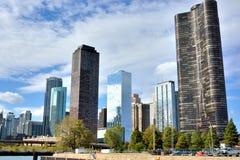 Вход Рекы Чикаго от озера Мичиган Стоковые Изображения RF