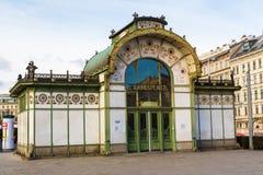 Вход станции метро Karlsplatz Стоковые Фото