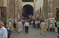 Вход старого базара в Дамаске, Сирии Стоковая Фотография RF