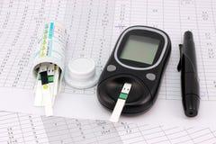 Входы в уровни содержания глюкозы в крови Стоковые Изображения RF