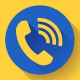 Входящий значок вектора телефонного звонка Стоковые Изображения