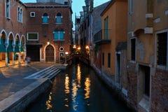 Вчера вечером на Venecia Стоковая Фотография
