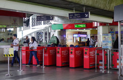 Въездные ворота станции BTS в Бангкоке, Таиланде Стоковая Фотография RF