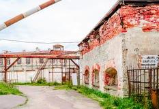 Въездные ворота тюрьмы Patarei в Таллине - Эстонии стоковые изображения rf
