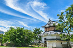Въездные ворота замка Okayama или замка вороны Стоковое фото RF
