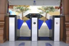 Въездные ворота на библиотеке стоковая фотография rf