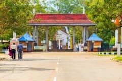 Въездные ворота h улицы Anuradhapura Sri Maha Bodhi Стоковое Фото