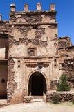 Въездные ворота Kasbah Telouet в высоком атласе, центрального Марокко, Северной Африки Стоковые Изображения RF