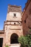 Въездные ворота Kasbah Telouet в высоком атласе, центрального Марокко, Северной Африки Стоковые Фото