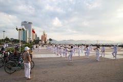 Въетнамская группа в составе женщины делая тренировки утра Стоковые Изображения RF
