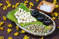 Въетнамская еда, сладостный gruel семени лотоса Стоковые Изображения