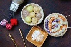 Въетнамская еда улицы, сладостный торт Стоковое Изображение