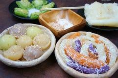 Въетнамская еда улицы, сладостный торт Стоковая Фотография