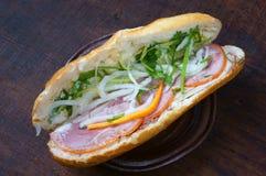 Въетнамская еда, banh mi Стоковые Фотографии RF