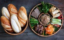 Въетнамская еда, thit mi banh Стоковая Фотография RF