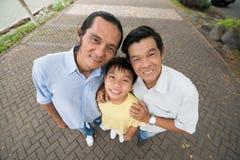 Въетнамская семья стоковая фотография rf