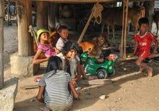 Въетнамские дети в сельской местности стоковые изображения