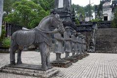 Въетнамские статуи солдат на Khai Dinh Стоковые Фото
