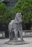 Въетнамские статуи солдат на Khai Dinh Стоковое Изображение