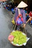 Въетнамские уличные торговцы Ханой женщин Стоковые Изображения RF