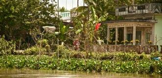 Въетнамский дом в перепаде Меконга, Вьетнам Стоковое Изображение