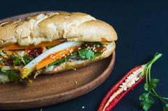 Въетнамский сандвич на предпосылке стоковые фото