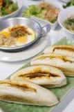 Въетнамский хлеб Завтрак, Таиланд На белой предпосылке стоковые изображения rf